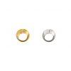 Dos anillos voluminosos en plata y plata con baño en oro. Parte de la Colección 7 de Aysha Bilgrami Joyeria